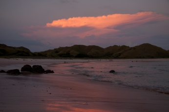 Pink Beach at sunset