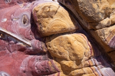 Strawberry Rock abstract iron ore exposed