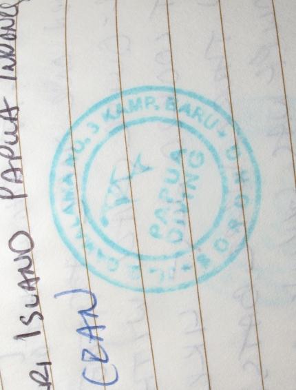 papua stamp