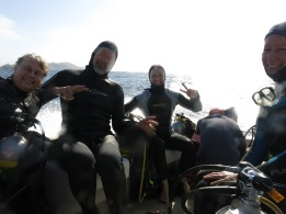 very happy dive buddies susan bruce mary and elaine