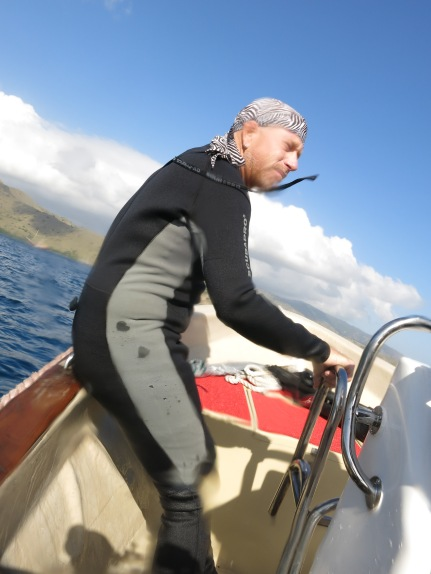 karl dive guide and boat manager