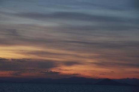sunrise in komodo