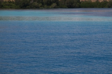 sea and reefs in komodo