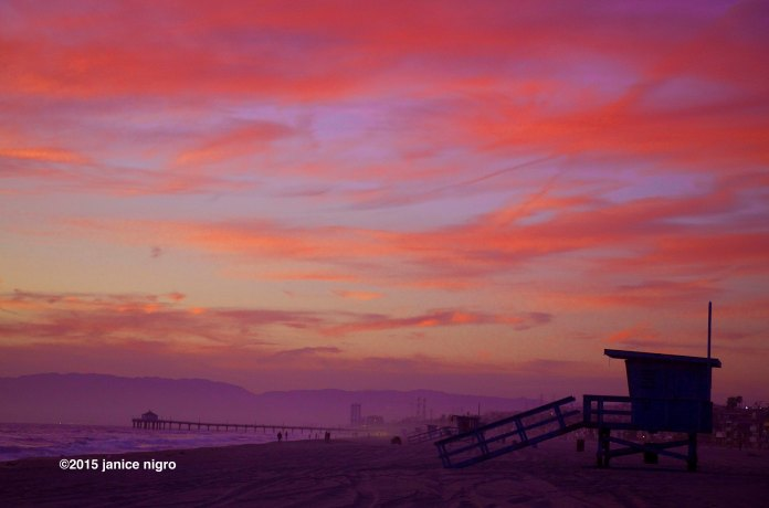 hermosa beach sunset 1359 copyright