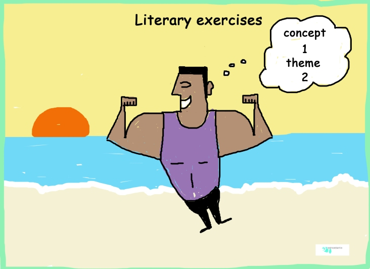 literary muscles cartoon