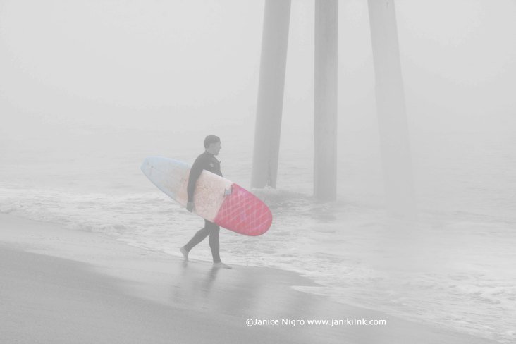 surfer in the mist 0298 light copyright