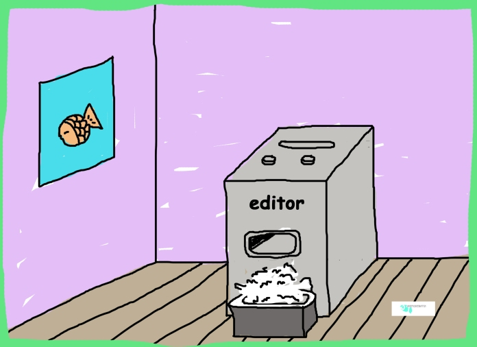 paper shredder cartoon