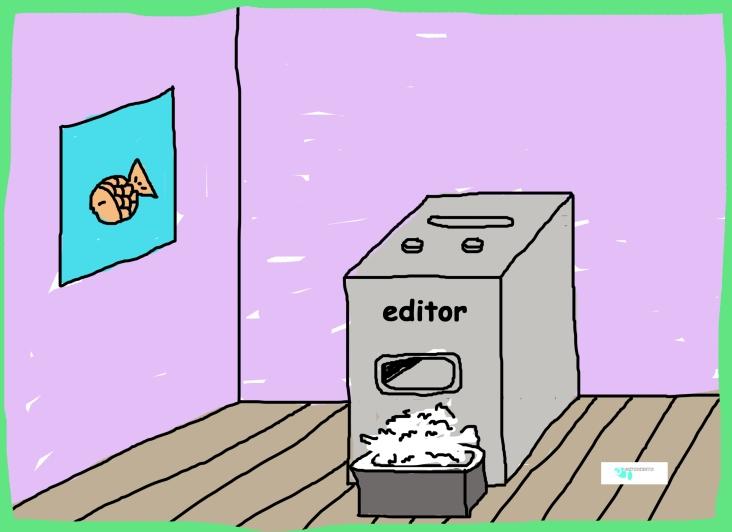 paper shredder cartoon