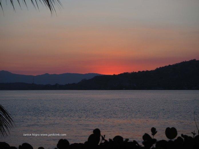 Sunset at Alami Alor Resort in Alor, Indonesia.